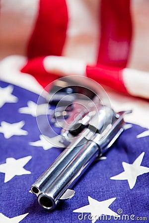 Gun Us Flag