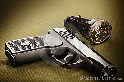 Gun and watch