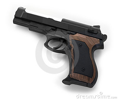 Gun On White Background Royalty Free Stock Images - Image: 17881909