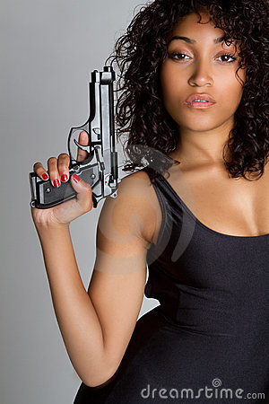 Free Gun Woman Royalty Free Stock Photography - 14336897