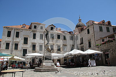 Gundulic Square Dubrovnik Croatia Editorial Photography