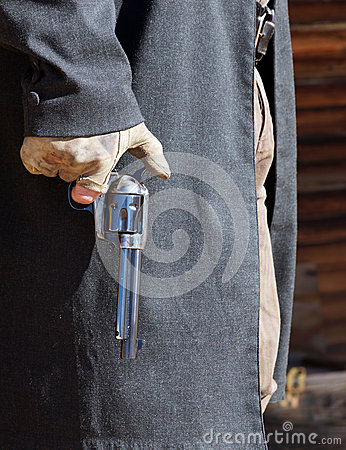 Free Gunfighter Is Ready Royalty Free Stock Photos - 37353708