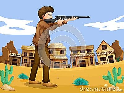 A gunman in the neighborhood