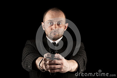 Gunman ready to shoot