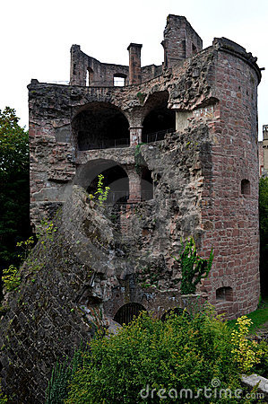 Gunpowder tower of the castle in Heidelberg