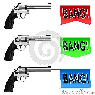 Guns with Bang Flags