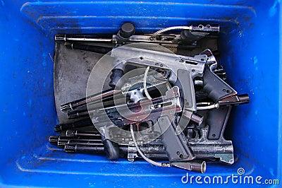 Guns In Blue Box