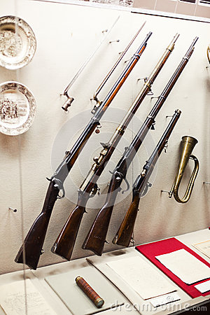 Guns on display Editorial Stock Image