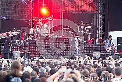 Guns N  Roses at Tuborg Green Fest Editorial Stock Image
