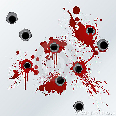 Free Gunshot Blood Splatter Background Stock Photos - 5575173