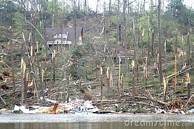 Guntersville Alabama Tornado Damage Editorial Stock Image