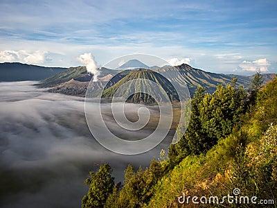 Gunung Bromo, Mount Batok and Gunung Semeru