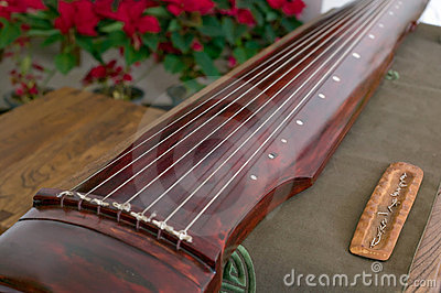 Guqin, a seven-stringed plucked instrument in some