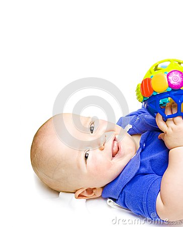 Gurgling Happy Baby With Toy