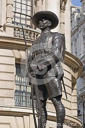 Gurkha London pomnikowy żołnierz Whitehall