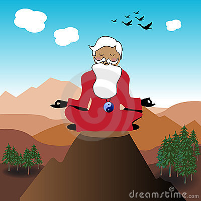 Free Guru On The Top Of A Mountain Royalty Free Stock Images - 19849329