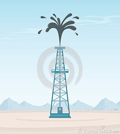 Oil Well Gusher Clipart File royalty free stock photography - image ...