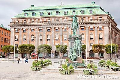 Gustav Adolfs torg, Stockholm, Sweden Editorial Stock Image