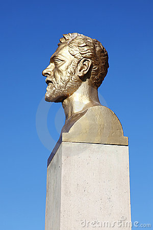 Gustave Eiffel bust Editorial Stock Photo