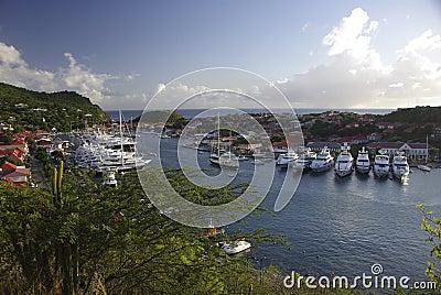 Gustavia harbour, Caribbean