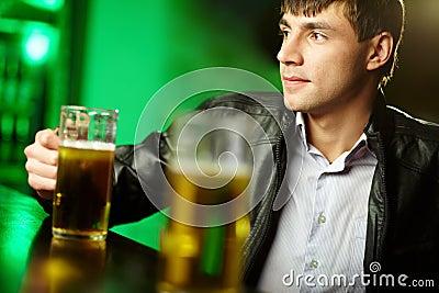 Guy at bar counter