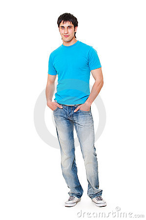 Guy in blue t-shirt