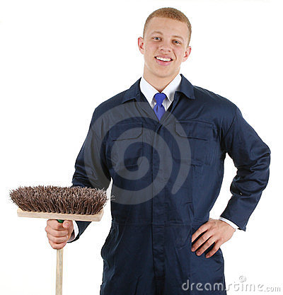 Guy with a broom