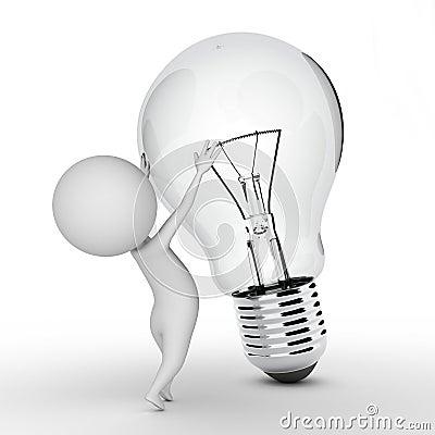 Guy with a bulb