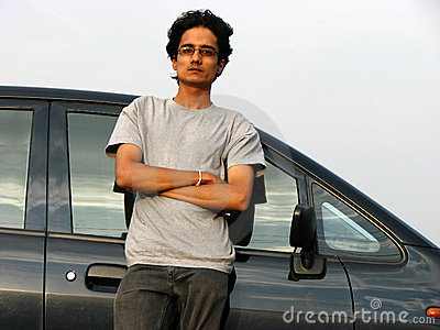 Guy with Car