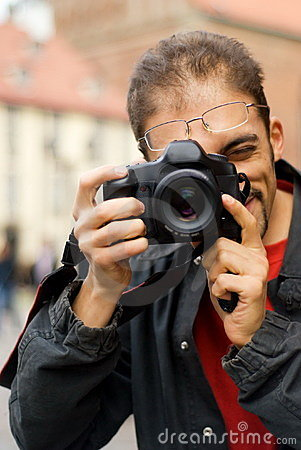 Guy with a digital camera