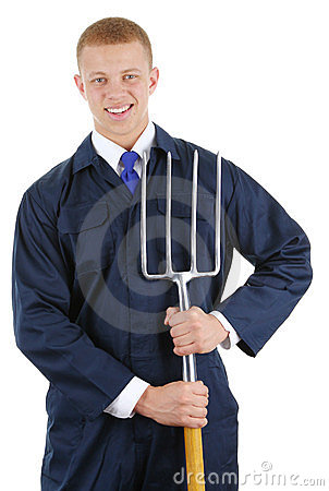 Guy with a fork