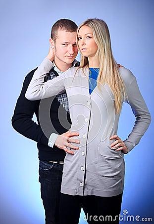 Guy and girl hugging