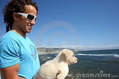Guy and his dog