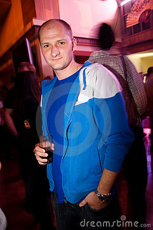 Guy in the nightclub