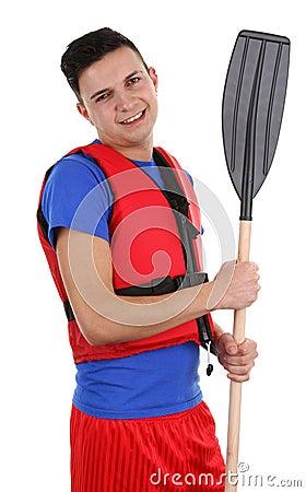 Guy with an oar