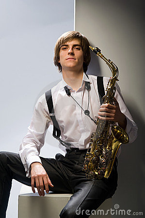 Guy and sax