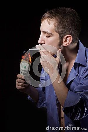 guy smokes