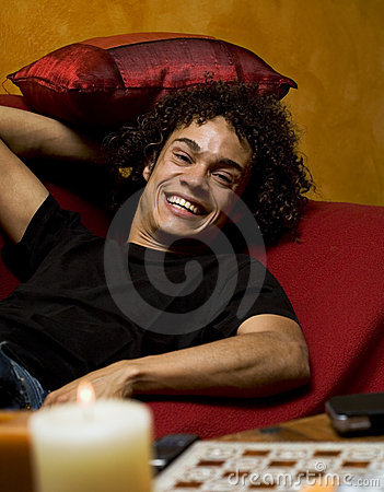 Guy on sofa