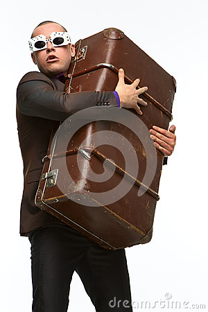 Guy with suitcase