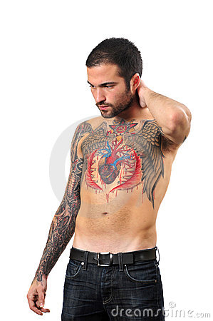 Guy with a tattoo Editorial Image