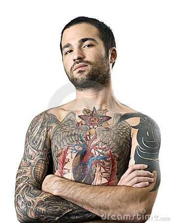 Guy with a tattoo Editorial Stock Image