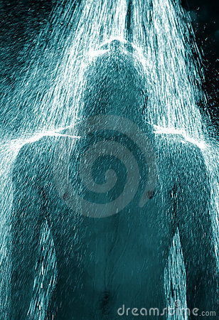 Free Guy Under A Shower Royalty Free Stock Images - 172189