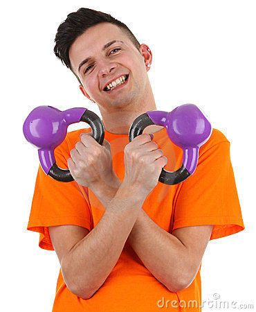 Guy with weights