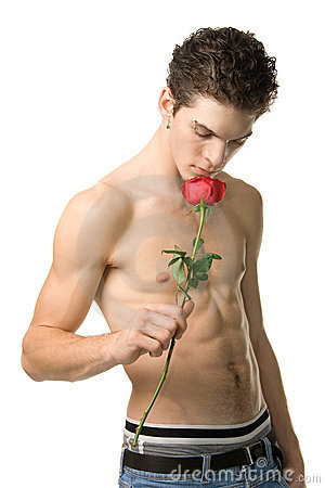 Free Guy With Rose Royalty Free Stock Photo - 1647175