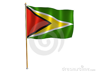 Guyana silk flag