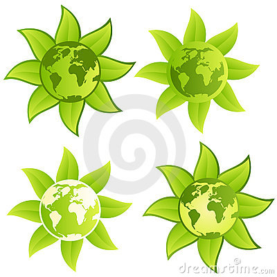 Guzika zieleni planety znak