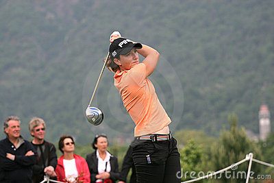 Gwladys Nocera, Losone 2007, Golf Ladies european Editorial Image