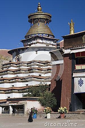 Gyantse Kumbum - Tibet Editorial Stock Image