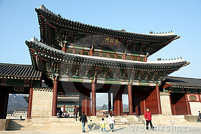 Gyeongbokgung Palace, South Korea Editorial Photography