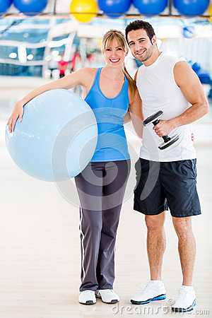 Gym couple
